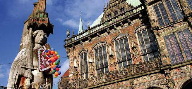 Bremen-Roland-und-Rathaus